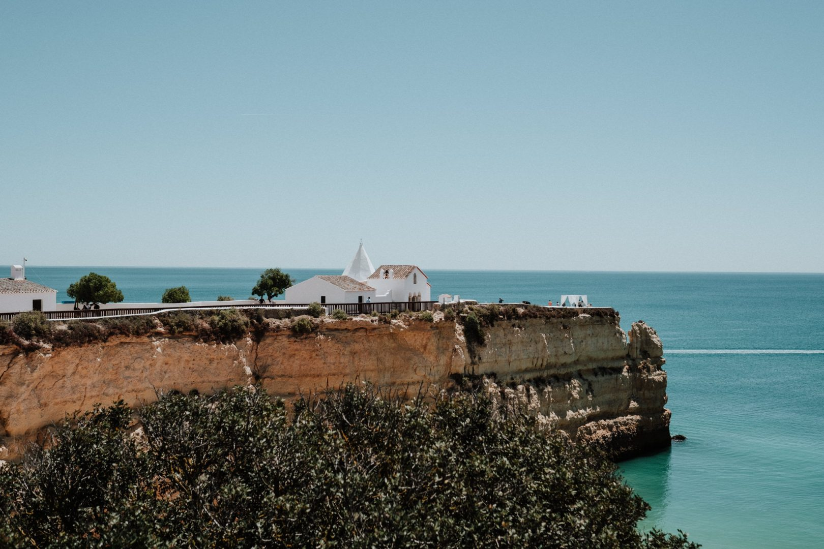 views of cliff top wedding venue portugal