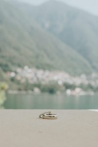 wedding rings at lake como